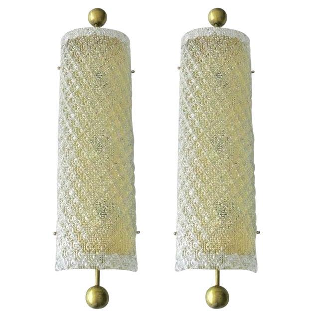Fabio Ltd Diamante Sconces / Flush Mounts - a Pair For Sale