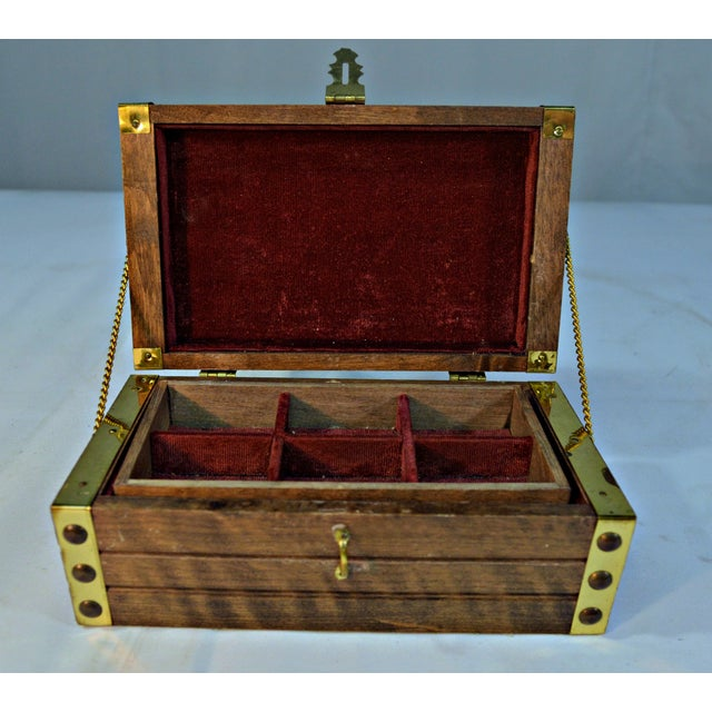 Japanese Wooden Jewelry Box - Image 3 of 10