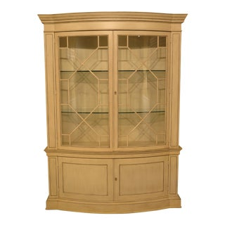 Baker Decorator Painted Bowed Glass China Cabinet