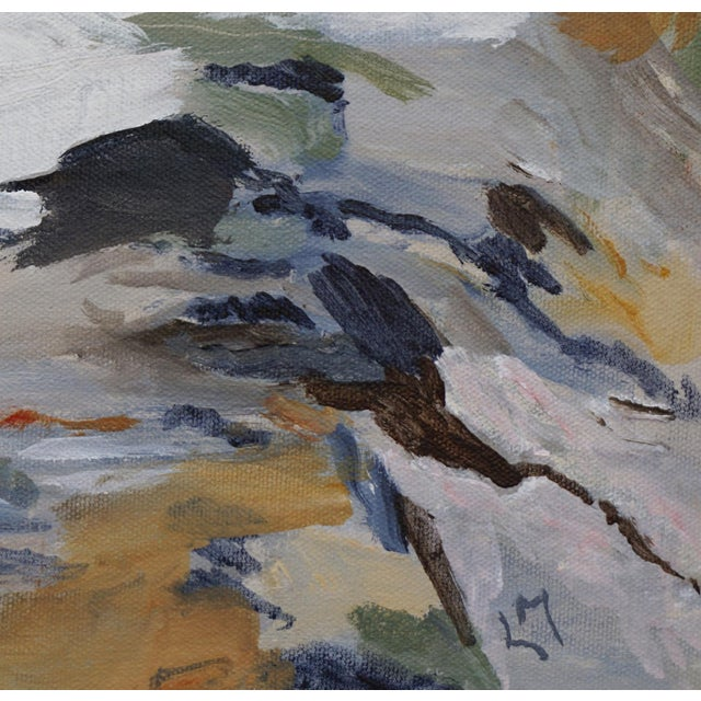 """Laurie MacMillan """"First Thaw"""" Abstract Painting For Sale In Los Angeles - Image 6 of 7"""