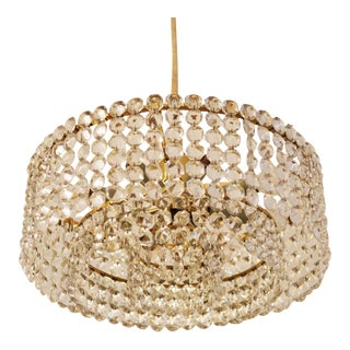 Crystal chandelier by JL Lobmeyr For Sale