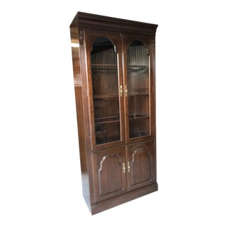Ethan Allen Georgian Court Cherry China/Display Cabinet For Sale