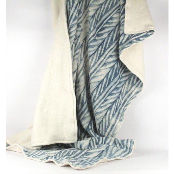 Blue African Mud Cloth Throw Blanket - Image 5 of 6