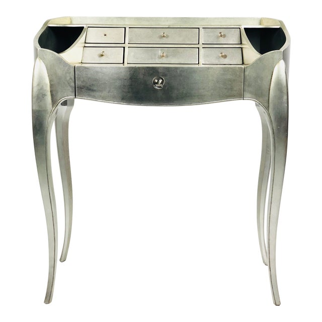 Art Deco Century Furniture Silverleaf Vanity For Sale