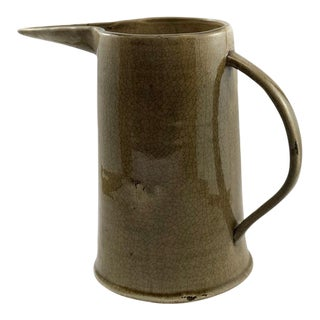 Tampa Rustic Ceramic Water Pitcher and Vase For Sale