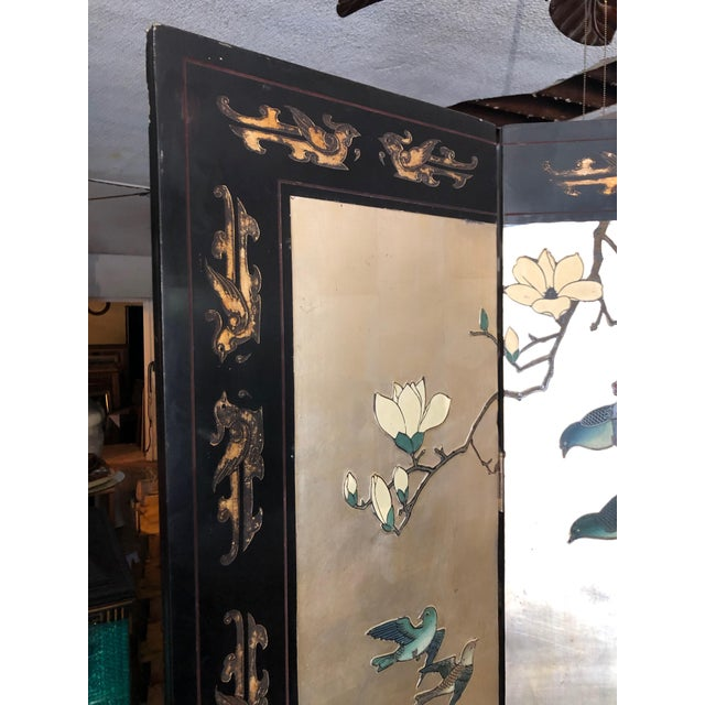 Gold Early 20th Century 8-Panel Coromandel Screen For Sale - Image 8 of 13