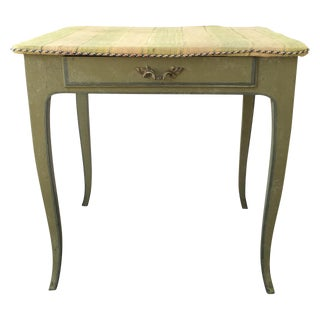 18th C. French Green Painted Side Table For Sale
