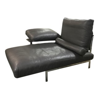 Conteporary B&B Italia Diesis Black Leather Chaise