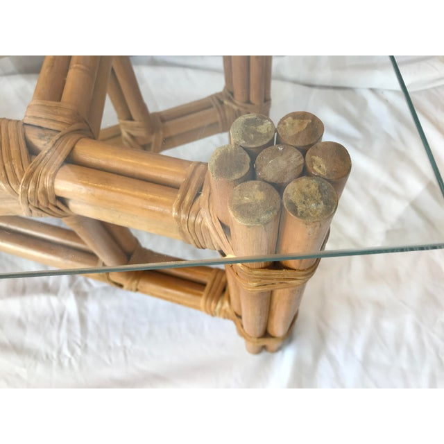 Coffee Boho Chic X Design Rattan Coffee Table For Sale - Image 8 of 9