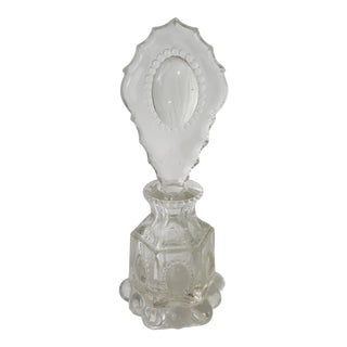 L E Smith Beaded Medallion Perfume Bottle For Sale