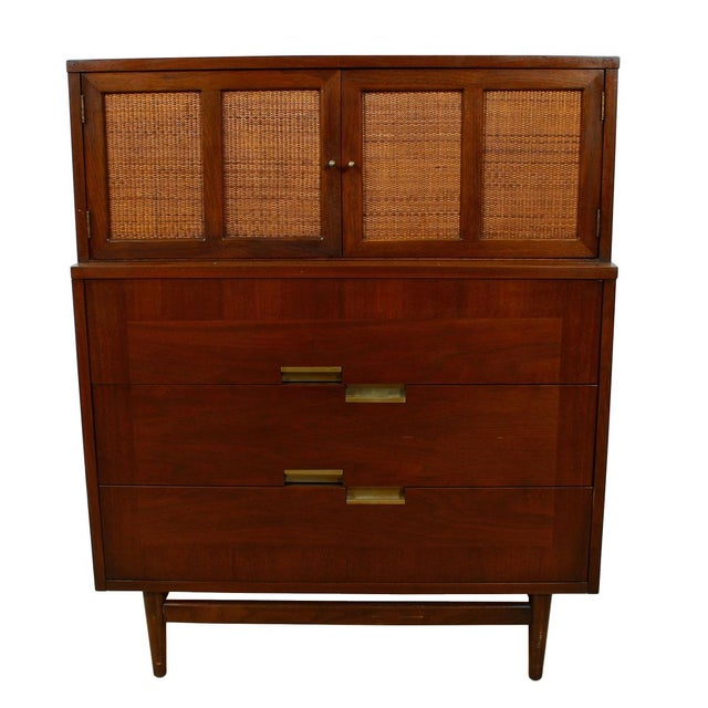 American of Martinsville Walnut Dresser Sideboard - Image 6 of 8