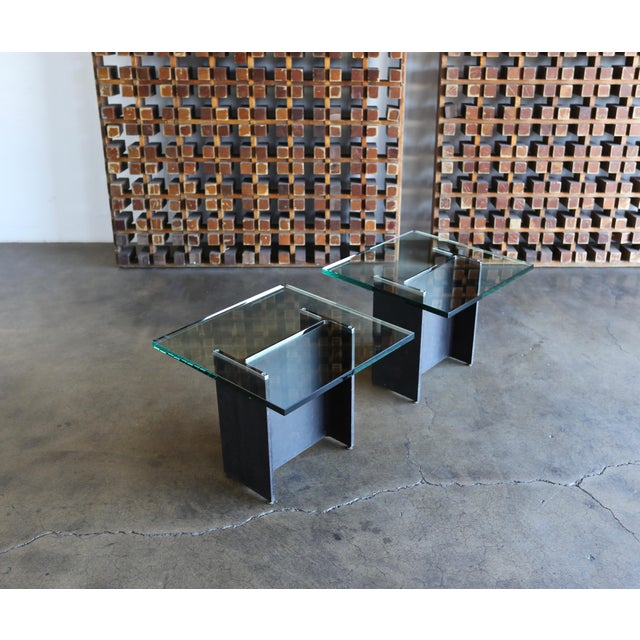 Gerald McCabe I Beam Side Tables Circa 1965 - a Pair For Sale - Image 12 of 13