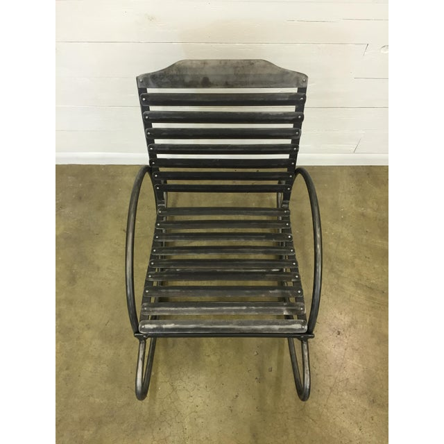 Wrought Iron Porch Rocking Chair For Sale - Image 4 of 8
