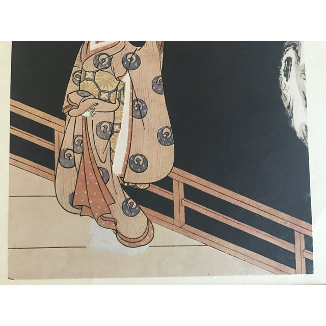 Suzuki Harunobu ( 1725 - 1770 ) Japanese Woodblock Print For Sale - Image 10 of 13