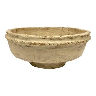 Vintage Papier Mache Bowl For Sale