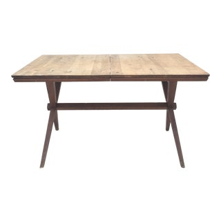 Conant Ball Mid-Century X-Leg Birch Dining Table