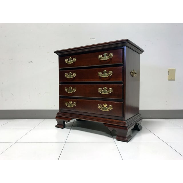 JF Delwood Solid Cherry Chippendale Chairside Chest - Image 2 of 11