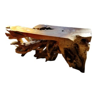 Live Edge Tree Trunk Table For Sale