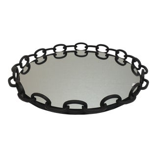 Abstract Chain-Link Edged Tray For Sale