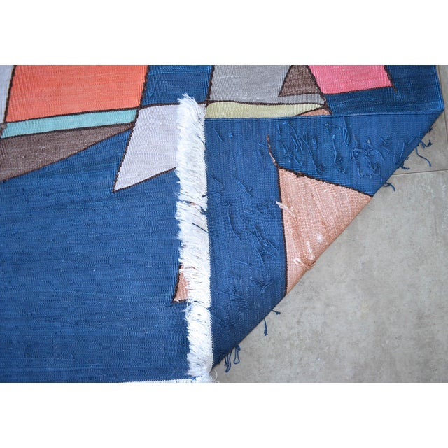 Paul Klee - Sailing Boats - Inspired Silk Hand Woven Area - Wall Rug 4′6″ × 5′9″ For Sale - Image 9 of 11