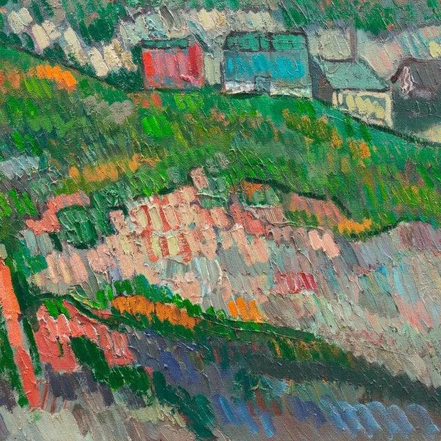 Johannes Carstensen Landscape With Village For Sale - Image 9 of 11