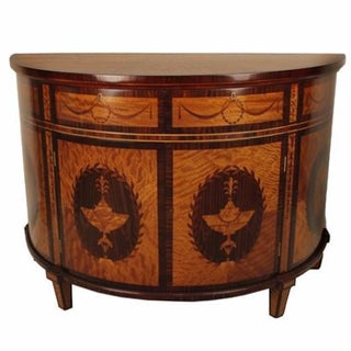 Satinwood Inlaid Cabinet For Sale