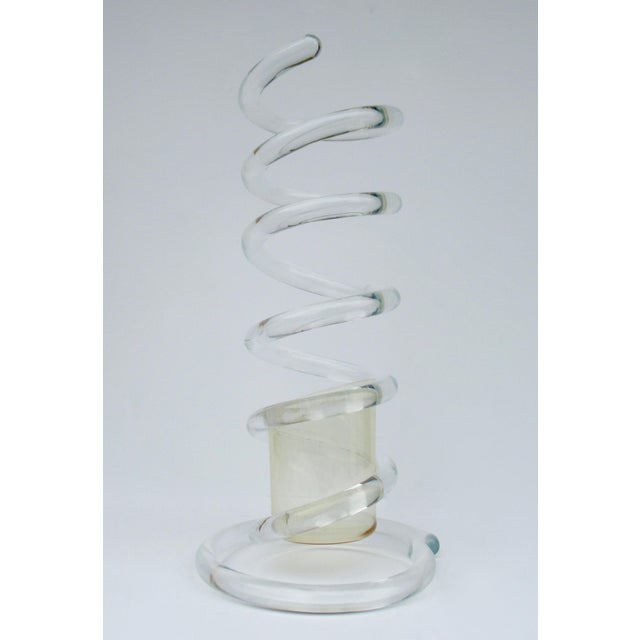 """Contemporary Mid-Century Dorothy Thorpe Tubular """"Infinity,' Swirled Lucite Umbrella Stand, Holder For Sale - Image 3 of 13"""