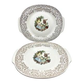 Antique 22 K Gold Limoges- Set of 2 Platters For Sale