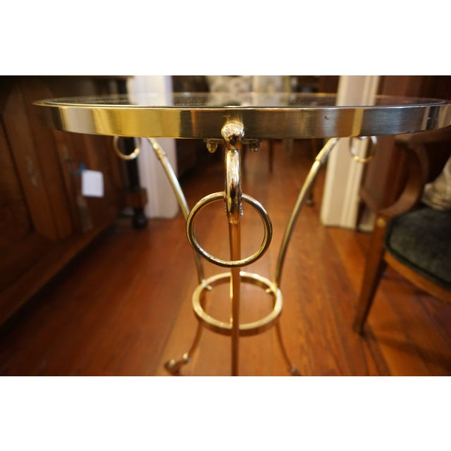 Mid-Century Brass and Glass Top Gueridon Tables - a Pair For Sale - Image 4 of 9