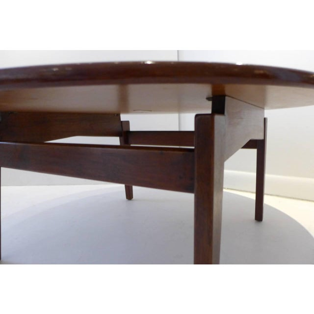 1950s Jens Risom Cocktail Table with White Laminate Top For Sale - Image 5 of 6