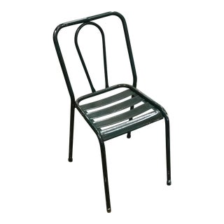 Dark Green Iron Bistro Chair
