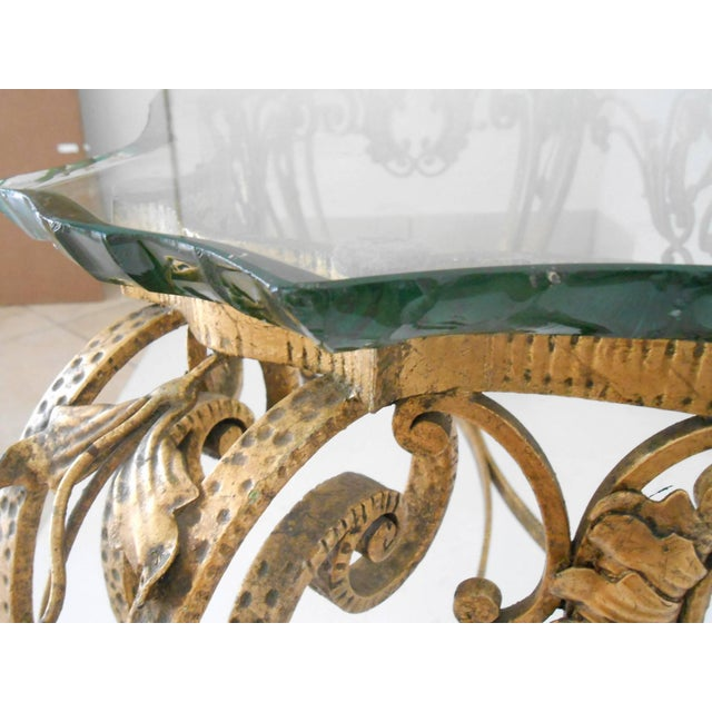Italian Gilt Wrought Iron Coffee Table For Sale In Palm Springs - Image 6 of 7