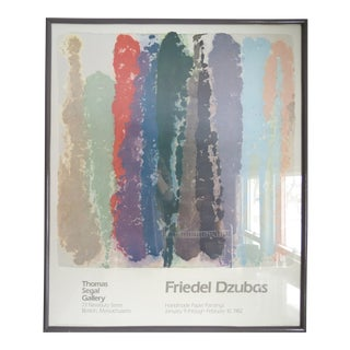 Vintage Friedel Dzubas Poster of Wall Art Painting, 1982