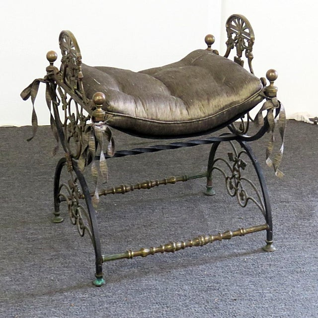 Antique Regency Style Iron Bench For Sale In Philadelphia - Image 6 of 6