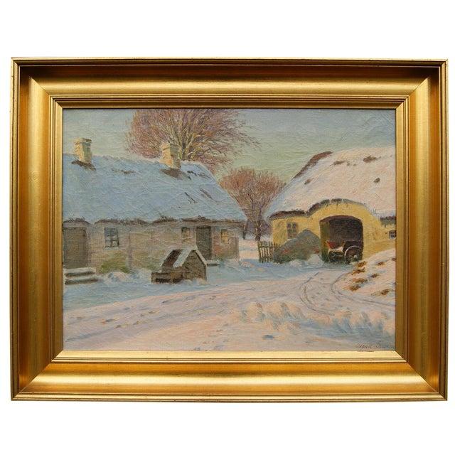 Winter Landscape by Alfred Larsen - Image 1 of 5