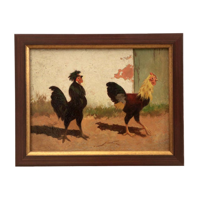 WILLIAM BAPTISTE BAIRD (AMERICAN, 1847-1899) BARNYARD ROOSTER PAINTINGS Two signed BAIRD / PARIS; four paintings in oil on...