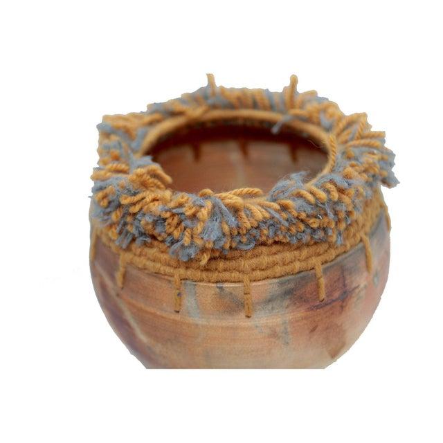 Ceramic Handwoven Tassel Native American Southwestern Vase For Sale - Image 7 of 10