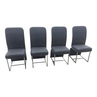 Vintage Chrome Carson Cantilever Dinning Chairs- Set of 4 For Sale