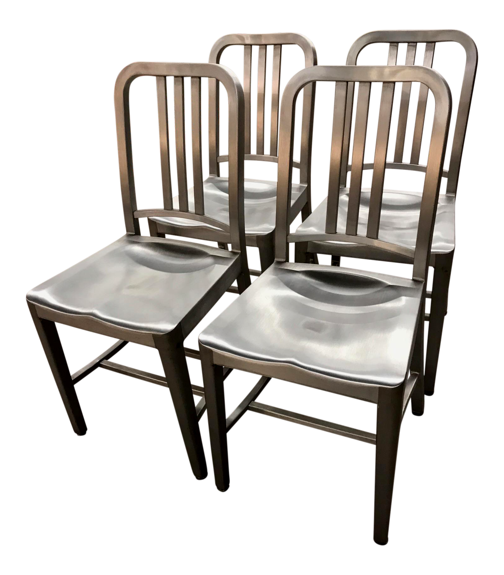 Emeco 1006 Aluminum Navy Chairs   Set Of 4