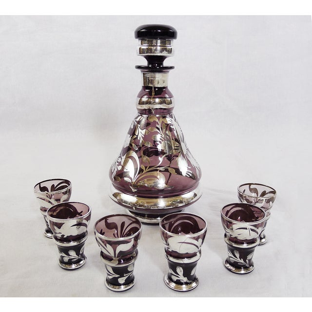 Vintage Italian Silver Decanter Cordial - Set of 7 - Image 3 of 5