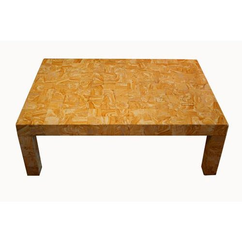 1970s French Cocktail Table Made From Petrified Wood For Sale - Image 10 of 10