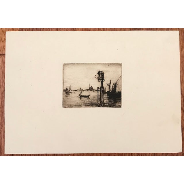 Artist - Unknown Title - Pair of early 20th Century Dry Point Etchings of Venice Signed - Unsigned Year - Early 20th...