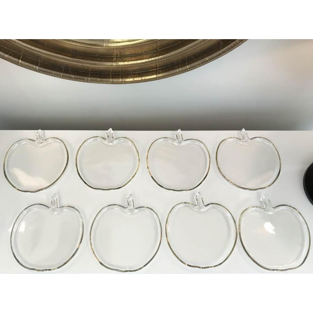 Glass Glass Apple Shape Plates - Set of 8 For Sale - Image 7 of 7