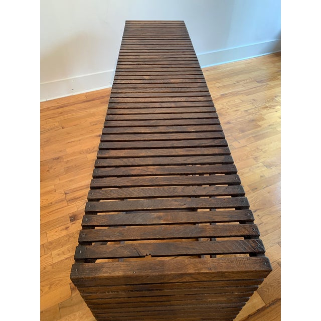 "Brown Rustic ""Museum Crate"" Console Table For Sale - Image 8 of 12"