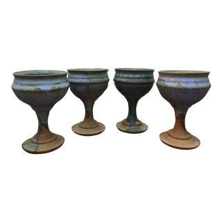 Rustic Boho Ceramic Cups - Set of 4