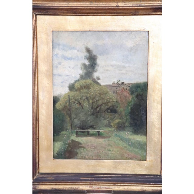 Important refined oil painting on canvas from a collection of 19th century works. Painting by F. Rossano signed, a very...