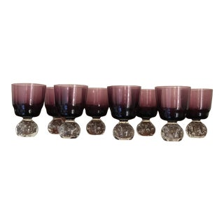 Carl Erickson Amethyst Apertif Cordial Glasses - Set of 8