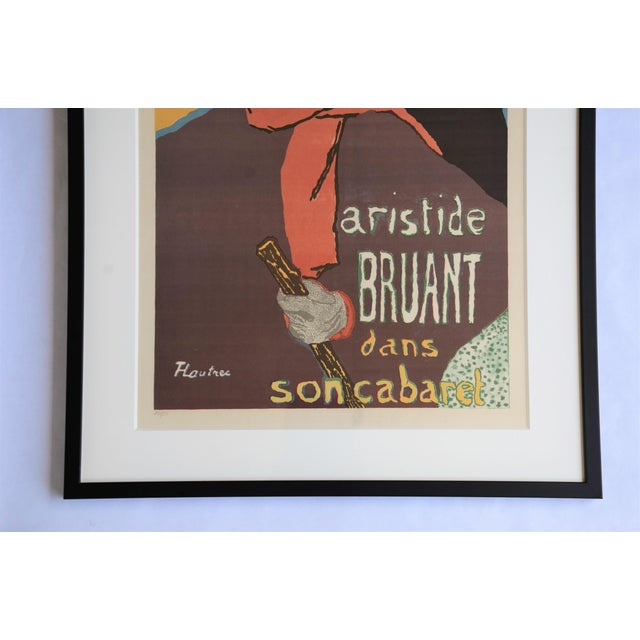 "Framed Lithograph Print ""Aristide Bruant - Ambassadeurs"" by Henri De Toulouse-Lautrec For Sale In Richmond - Image 6 of 13"