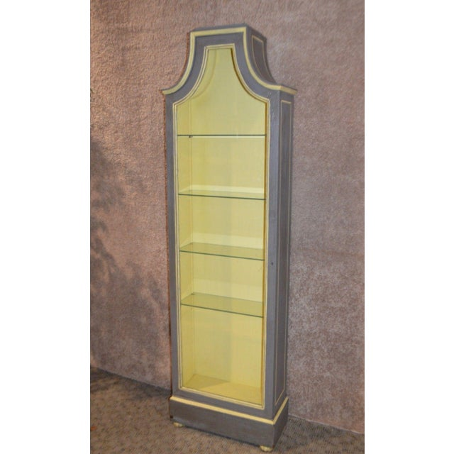 Vintage Distressed Painted Venetian Style Curio Cabinet - Image 4 of 11