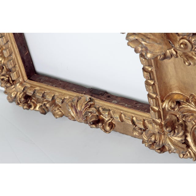 Rare 17th Century Giltwood Italian Picture Frame For Sale - Image 9 of 11